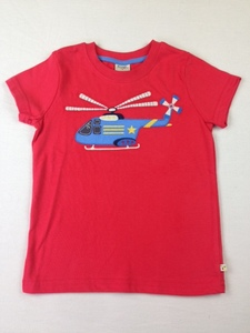 T-Shirt Helicopter rot - Frugi