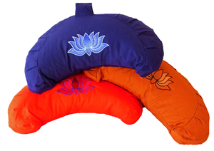 Meditationskissen Halbmond mit Lotus - BAGHI