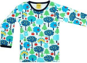 Langarm-Shirt 'Appletree' Retroprint für Jungen und Mädchen - DUNS Sweden