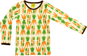 Langarm-Shirt 'Carrot' gelb Retroprint für Jungen und Mädchen - DUNS Sweden