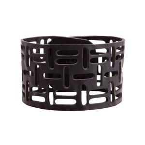 Sequence handgefertigtes Armband aus recyceltem Reifenschlauch - SAPU