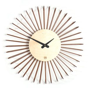 Design Wanduhr CIRCULO aus Holz - farbflut Design