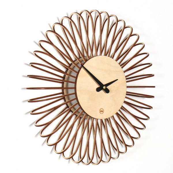 Farbflut Design Design Wanduhr Circulo Aus Holz Avocadostore