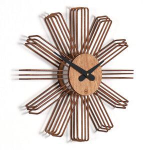 Design Wanduhr ESTRELLA aus Holz - farbflut Design