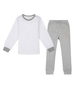 PETER PAN Pyjama mit kleinen Sternen aus Bio-Baumwolle grau meliert - sense-organics