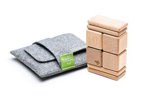 Magnetische Holzblöcke (natur) im Taschenbeutel (8-teilig) - TEGU