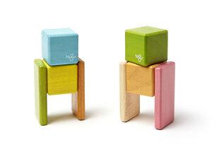 Magnetische Holzblöcke (farbig) im Taschenbeutel (8-teilig) - TEGU