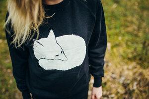 Fuchs Unisex Sweatshirt / Bio & Fair Wear BLACK  - ilovemixtapes