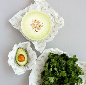Abeego Frischhaltetuch - wiederverwendbare Ersatz für Frischhaltefolie - Abeego