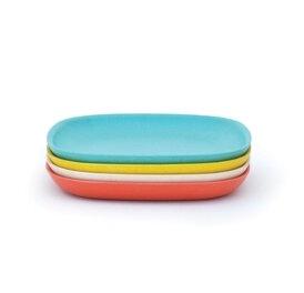 BIOBU GUSTO - 4er Set Teller, 2 Farbkombinationen - aus BAMBUSFASER - EKOBO