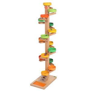 Riesen-Tellerturm bunt mit Glockenspiel - Beck Holzspielzeug
