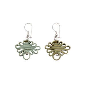 Zig Zag handgefertigte Ohrringe aus recycelten Druckerrollen - SAPU
