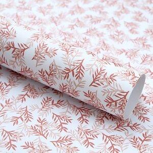 Recycling-Geschenkpapier Konifere in rose - karamelo