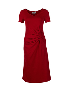 rotes Jerseykleid Line Knotendesign - Skrabak