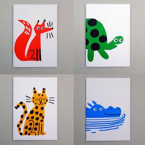 """Kleine """"tierische"""" Recycling-Notizbücher - Lisa Jones"""