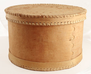 Brottopf – Runde Brotdose aus Birkenrinde groß - »Lena« - sagaan