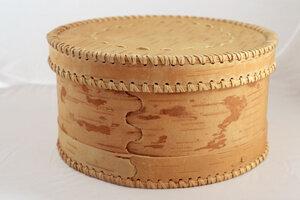 Brotkasten - Runde Brotdose aus Birkenrinde klein – »Lenotschka« - sagaan