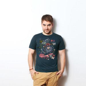 Banker in a Wonderland - Männershirt Bio mit Print - Coromandel