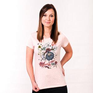 Banker in a Wonderland - Printshirt Frauen aus Biobaumwolle - Coromandel