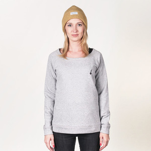 BOJE FRAUEN SWEATER HEATHER GREY - HAFENDIEB
