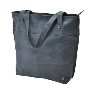 Estilo Shopper  Rindsleder  graublau - MoreThanHip