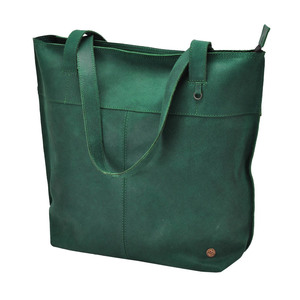 Estilo Shopper  Rindsleder  seegrün - MoreThanHip