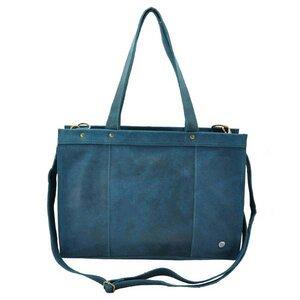 Elegante - Laptoptasche Rindsleder - petrol blau - MoreThanHip