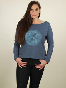 Longsleeve Oversize Damen - Two Kolibris - dark blue - NATIVE SOULS