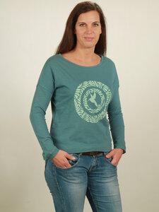 Longsleeve Oversize Damen - Circle Kolibri - light turquoise - NATIVE SOULS