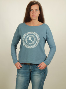 Longsleeve Oversize Damen - Circle Kolibri - light blue - NATIVE SOULS