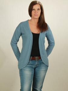 Slub Cardigan Damen - light blue - NATIVE SOULS