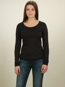 Longsleeve Basic Damen - black - NATIVE SOULS