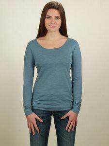 Longsleeve Basic Damen - light blue - NATIVE SOULS