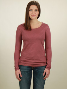 Longsleeve Basic Damen - berry - NATIVE SOULS