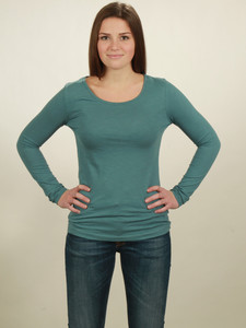 Longsleeve Basic Damen - light turquoise - NATIVE SOULS