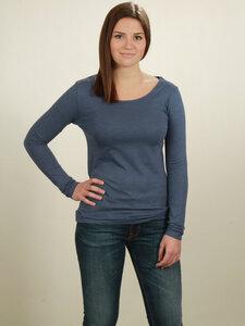 Longsleeve Basic Damen - dark blue - NATIVE SOULS