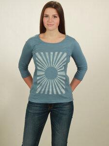 Longsleeve 3/4-Arm Damen - Sun - light blue - NATIVE SOULS