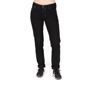 Straight Fit Jeans Damen Schwarz - bleed