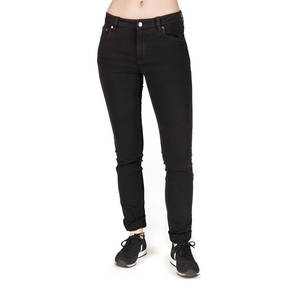 Slim Jeans Damen Schwarz - bleed