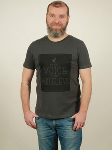 T-Shirt Herren - Voiceless - dark grey - NATIVE SOULS