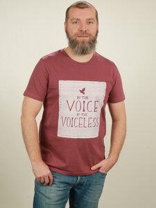 T-Shirt Herren - Voiceless - berry - NATIVE SOULS