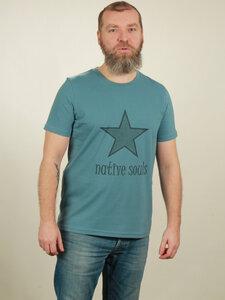 T-Shirt Herren - Star - light blue - NATIVE SOULS