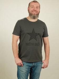 T-Shirt Herren - Star - dark grey - NATIVE SOULS