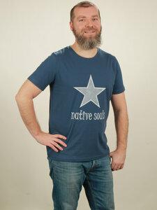 T-Shirt Herren - Star - dark blue - NATIVE SOULS