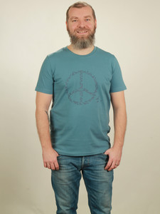T-Shirt Herren - Peace - light blue - NATIVE SOULS