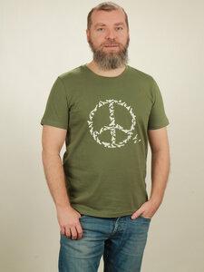 T-Shirt Herren - Peace - green - NATIVE SOULS
