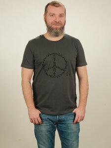 T-Shirt Herren - Peace - dark grey - NATIVE SOULS