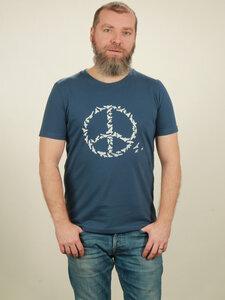 T-Shirt Herren - Peace - dark blue - NATIVE SOULS