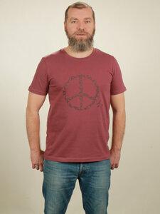 T-Shirt Herren - Peace - berry - NATIVE SOULS