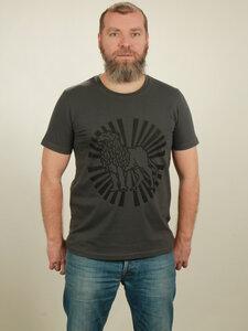 T-Shirt Herren - Lion Sun - dark grey - NATIVE SOULS